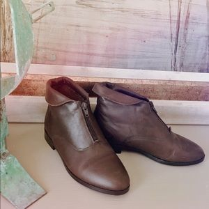 Brown Leather Prima Royale Vintage Boots Size 7
